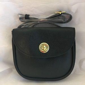 Mundi black waist bag with safe keeper fanny pack
